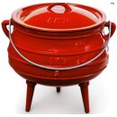 LK's Pot Red Enamel (3-Leg) No. 2